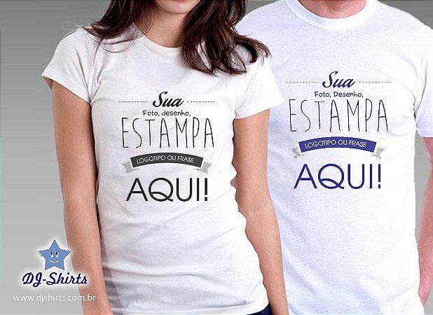 Camiseta Personalizada (Foto camiseta, logos, desenhos)