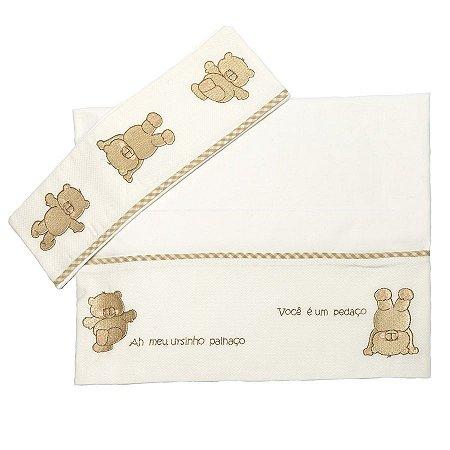 Jogo de Lençol para Berço Urso