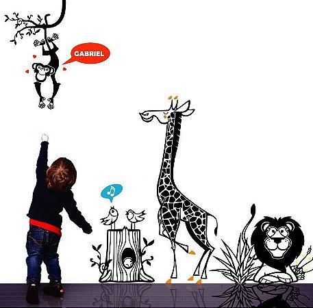 Adesivo de Parede - Safari Infantil