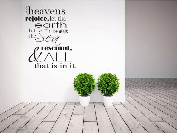 Adesivo de Parede - Salmo 96:11