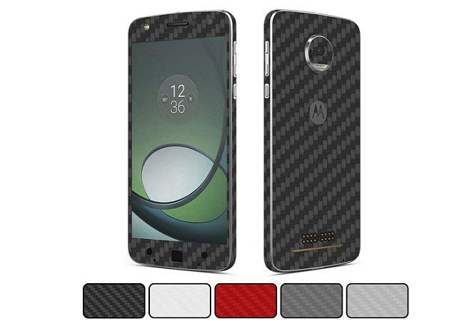 Skin Moto Z - Fibra de Carbono