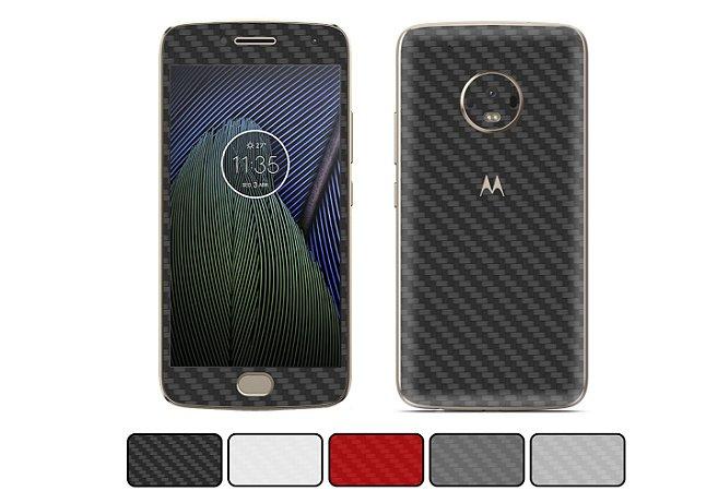 Skin Moto G5 Plus - Fibra de Carbono