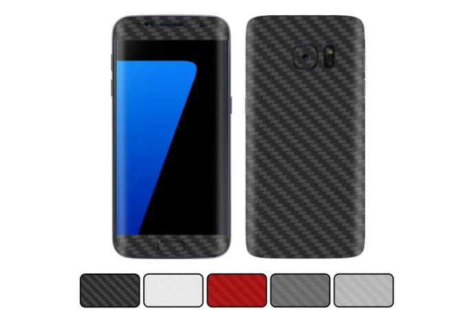 Skin Galaxy S7 Edge - Fibra de Carbono