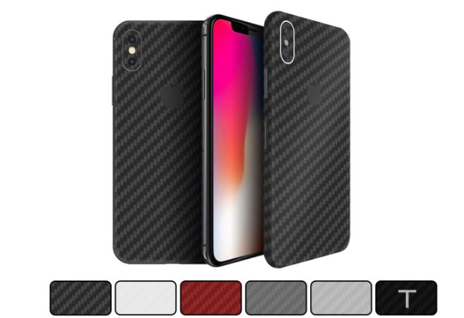 Skin iPhone X - Fibra de Carbono