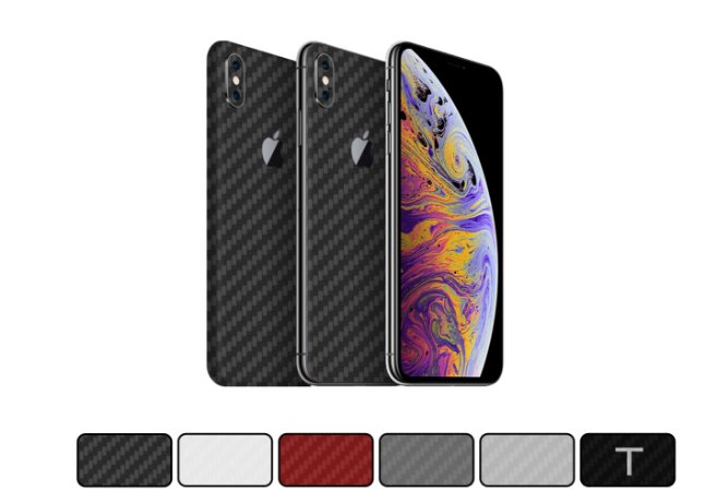 Skin iPhone XS Max - Fibra de Carbono