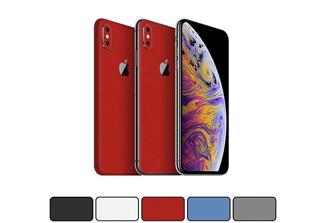 Skin iPhone XS - Cores Foscas
