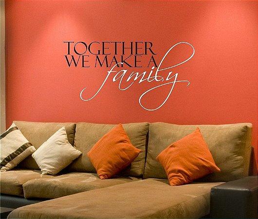 Adesivo de Parede - Together Family