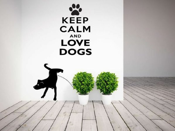 Adesivo de Parede - Keep Calm and Love Dogs