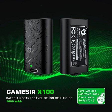 Bateria Recarregável de Íons de Lítio GameSir X100 de 1600mAh Para Controle Xbox One / Series X / S
