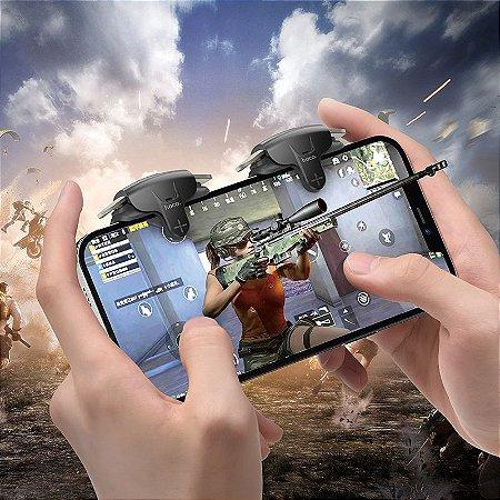 Par De Gatilhos Hoco GM6 L1 - R1 Para iOS (iPhone), Android, PUBG, COD, Free Fire