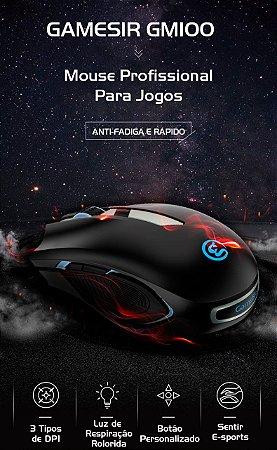 Mouse Gamer Gamesir GM100 USB RGB Led Anti-Fadiga Compatível Com Windows Mac Os X1 Z1