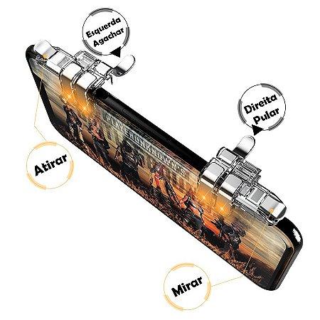Gatilhos De 4 Botões P60 L1 - R1 / L2 - R2 FPS Pubg Free Fire