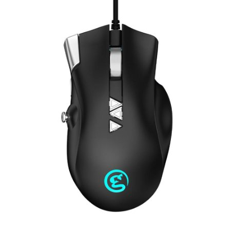 Mouse Gamer Gamesir GM200 E-Sport C/ Fio e Joystick USB RGB Para Windows PC / macOS