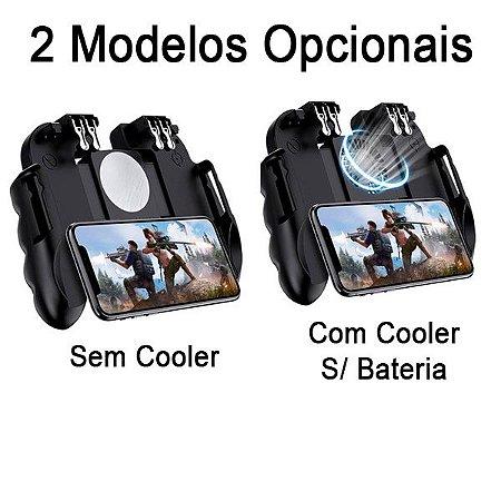 Controle Gamepad H9 Com 4 Botões L1 L2 / R1 R2 Android / iOS (iPhone) Free Fire PUBG