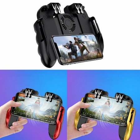 Controle H9B L1 L2 / R1 R2 Com Cooler Bateria Android / iOS (iPhone) Free Fire PUBG
