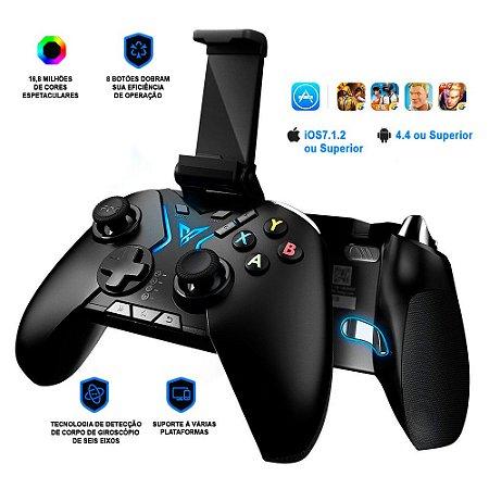 Controle Flydigi Apex RGB Bluetooth Android / iOS Tablet TV Box PC Steam PUBG / COD / PES