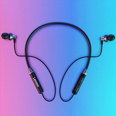 Fone de Ouvido Lenovo HE05 Esportes Wireless Bluetooth Estéreo in-Ear Neckband Android / iOS