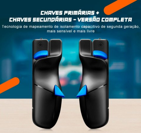 Gatilho Flydigi Shadow Stinger 2 L1R1 + L2R2 Android / iPhone iOS / PUBG / Fortnite / COD / FPS