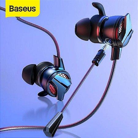 Fone de Ouvido Baseus GAMO H15 3.5mm In-ear Estéreo 3D + Microfone Destacável Para Jogos PUBG FPS
