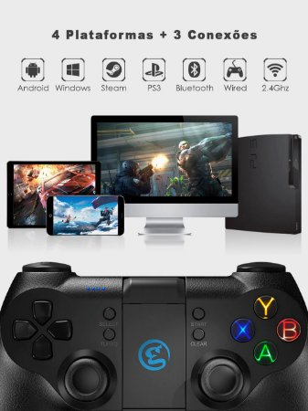 Controle GameSir T1s Sem Fio Bluetooth Para Windows PC / SteamOS / Android / PS3 / TV Box / VR