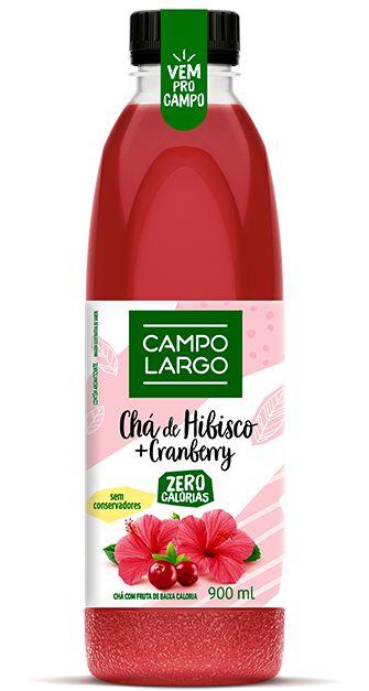 Chá de Hibisco e Cranberry - 900 ml - Campo Largo