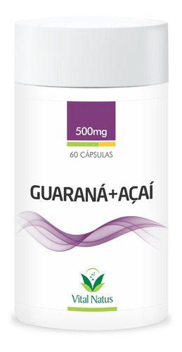 Guaraná + Açaí - 60 Cápsulas (500mg) - Vital Natus