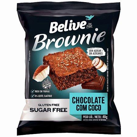 Brownie Zero Glúten e Zero Açúcar (Chocolate com Coco) 40g - Belive