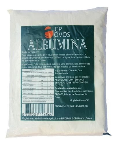 Albumina Pura - 500g - CP Ovos