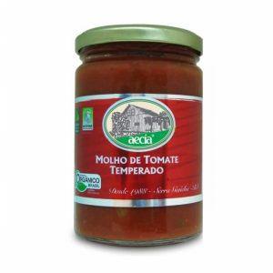 Molho de Tomate Temperado Orgânico - 340g - Aecía