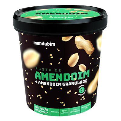 Pasta de Amendoim Granulado - 450g - Mandubim