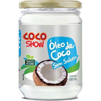 Óleo de Coco Sem Sabor/Cheiro - 500ml - Coco Show