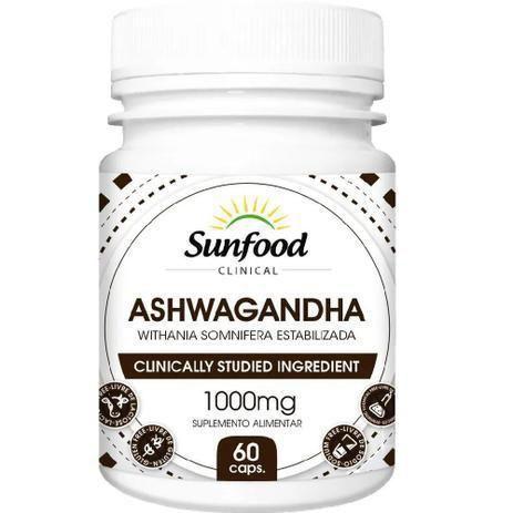Ashwagandha - 60 Cápsulas (1000mg) - Sunfood
