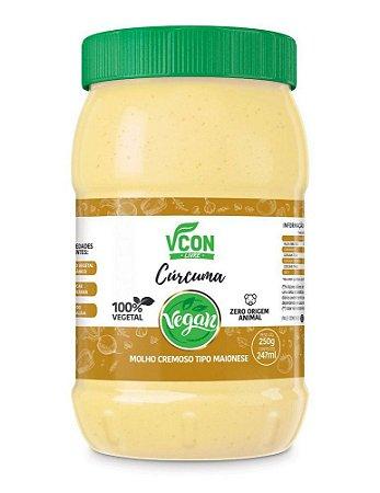 Maionese Vegana Sabor Cúrcuma - 247ml - Vcon
