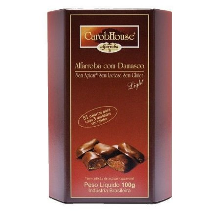 Alfarroba com Damasco - 100g - Carob House