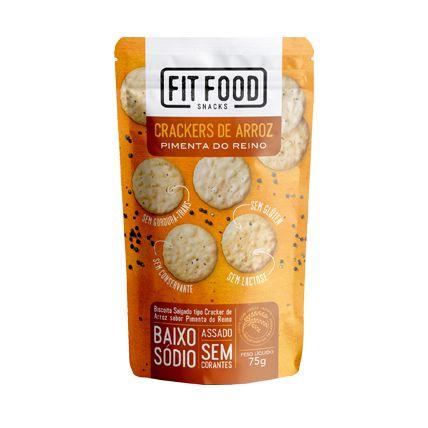 Crackers de arroz pimenta do reino Fit Food - 75g