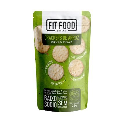 Crackers de arroz (Ervas Finas) 75g - Fit Food