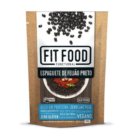 Espaguete de feijão preto Fit Food - 200g