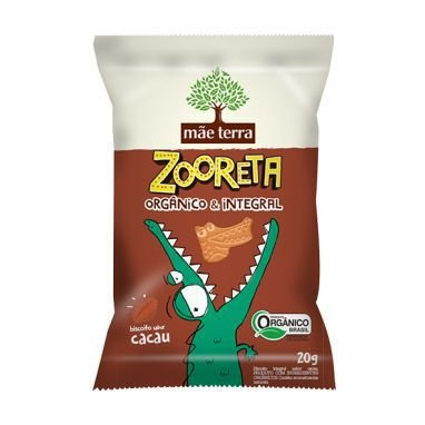 Biscoito Orgânico e Integral Zooreta (Cacau) 20g - Mãe Terra