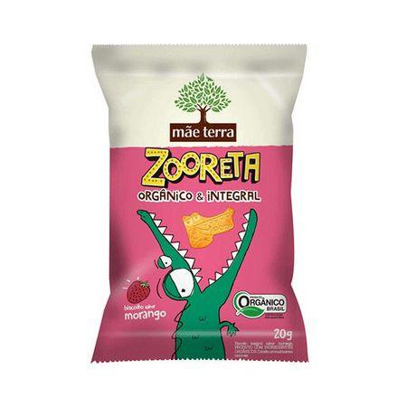 Biscoito Orgânico e Integral Zooreta (Morango) 20g - Mãe Terra