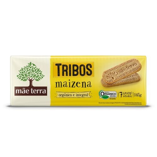 Biscoito tipo Maizena Orgânico e Integral Tribos - 145g - Mãe Terra