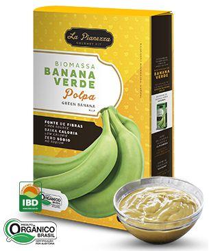 Biomassa de Banana Verde (Polpa) 250g - La Pianezza