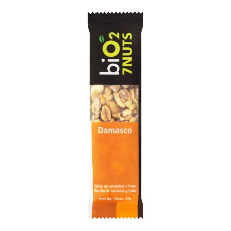 Barra de Castanhas 7 Nuts (Damasco) 25g - Bio2