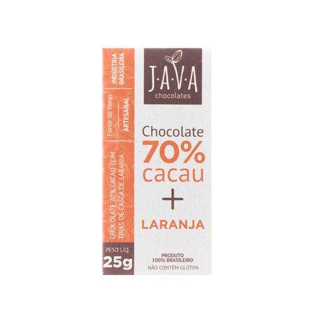 Chocolate 70% Cacau (Laranja) 25g - Java Chocolates