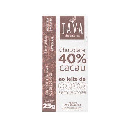 Chocolate 40% Cacau (Ao Leite de Coco) 25g - Java Chocolates