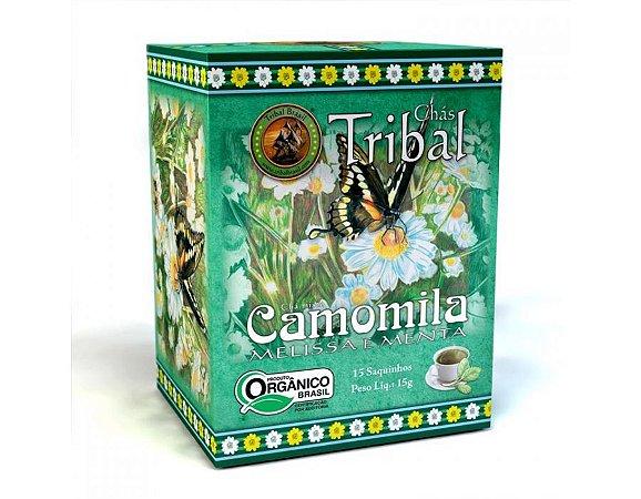 Chá Misto Orgânico c/ 15 sachês (Camomila, Melissa e Menta) 15g - Tribal