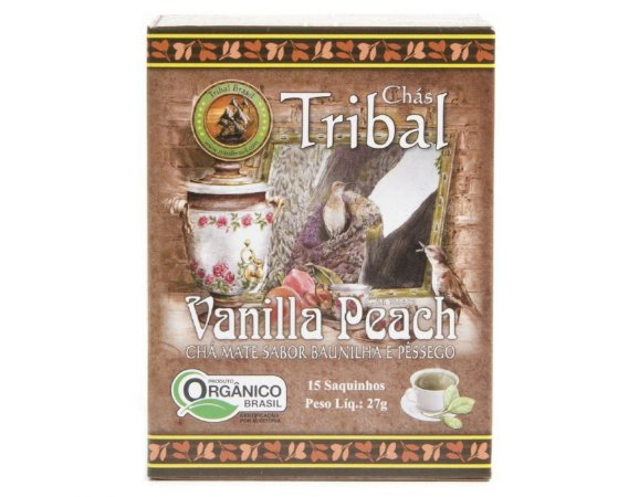 Chá Misto Orgânico c/ 15 sachês (Chá Mate, Baunilha e Pêssego) 15g - Tribal