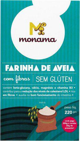 Farinha de Aveia com Fibras (Sem Glúten) 220g - Monama