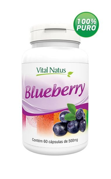 Blueberry - 60 Cápsulas (500mg) - Vital Natus