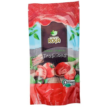 Molho Tomate Orgânico Tradicional -200g - Bendita Roça