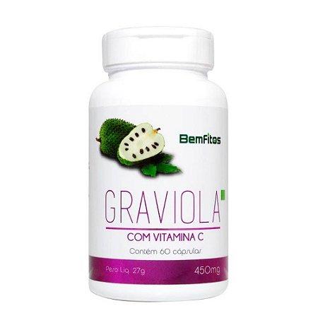 Graviola Com Vitamina C - 60 Capsulas (450mg) - BemFitos